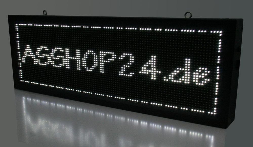 Asshop24de Led Laufschrift Weiss 40 Cm X 104 136 168